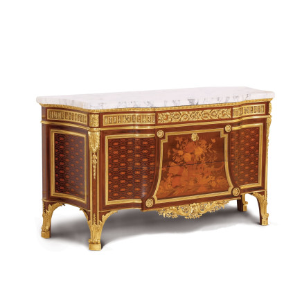 Charles-Guillaume Winckelsen - Matching pair of Louis XVI style Commode à Vantaux, 1865
