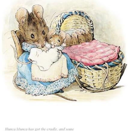 Beatrix Potter - Hunca Munca has got the cradle