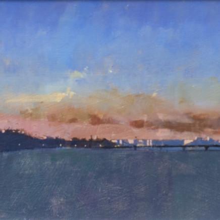 David Sawyer RBA - London sunset, view from Lambeth Bridge
