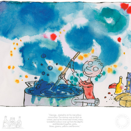 Quentin Blake/Roald Dahl - NEW - George started to stir his marvellous concoction