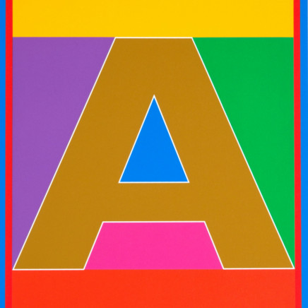 Sir Peter Blake - The Dazzle Alphabet Letter A, 2017