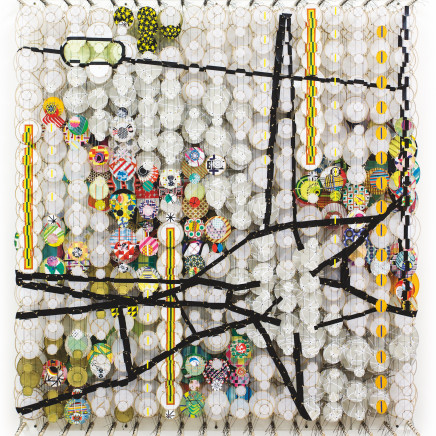 Jacob Hashimoto - The Quiet Center of All Thoughts Never Known, 2016