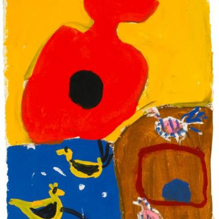 Roger Hilton CBE - Untitled gouache, 1974