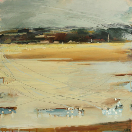 Sara Dudman RWA - Herring Gulls and Waders (Hayle Estuary) 1, 2017