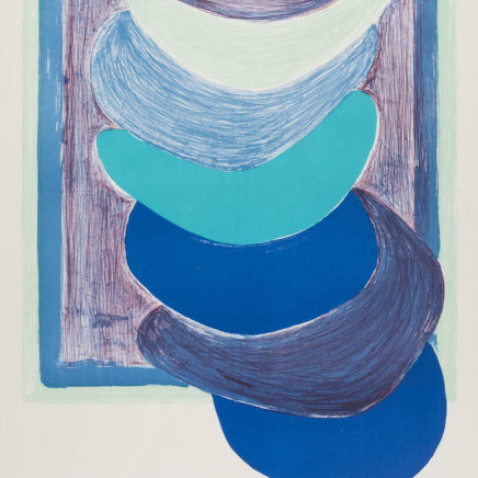 Sir Terry Frost RA - Blue Suspended Form (Kemp 54), 1970
