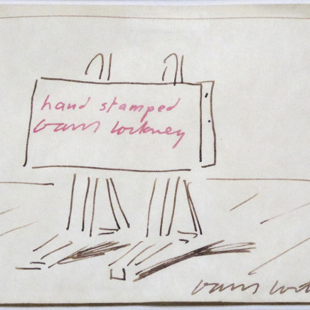 David Hockney OM CH RA - The Easel, c. 1995