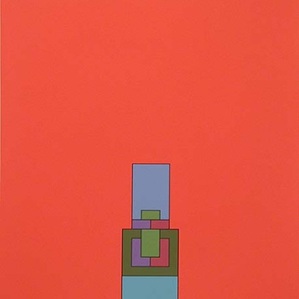 Robyn Denny - The Heavenly Suite (red), 1971