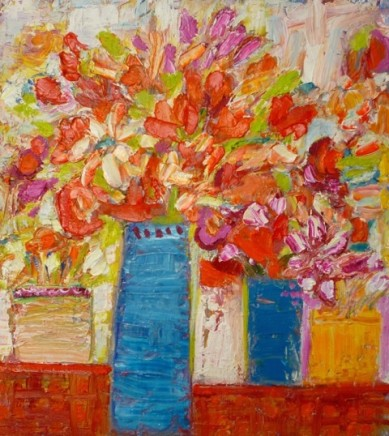 Penny Rees, Blue Vases