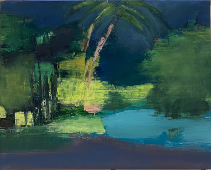 Pippa Blake, Pulau Pangkor Laut, Study with Palm, 2019