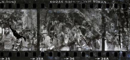 Gideon Mendel, PROTESTORS OUTSIDE COSATU HOUSE..., 1986