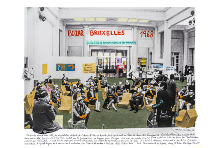 Marcelo Brodsky, MARCEL BROODTHAERS, BOZAR, BRUXELLES 1968, 2017