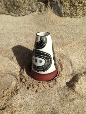 Fish Pye Pottery, Conical Vase II