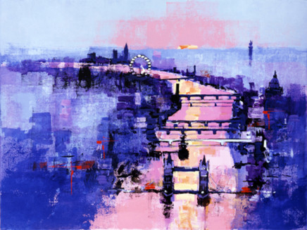 Colin Ruffell, River Thames Sunset, A2+