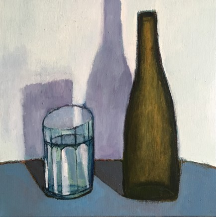 Nigel Sharman, Still Life with Glass and Bottle
