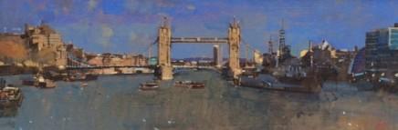 David Sawyer RBA, Tower Bridge & HMS Belfast