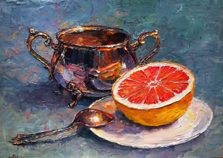 Lana Okiro, Still Life with Grapefruit