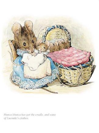 Beatrix Potter, Hunca Munca has got the cradle
