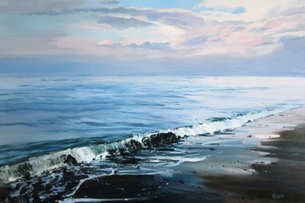 Colin Cook, Calm Sea at Sandsend, Before the Storm