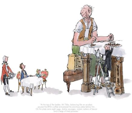 Quentin Blake/Roald Dahl, LOW STOCK - The BFG has breakfast with the Queen
