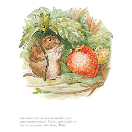 Beatrix Potter, I Prefer to Live in the Country
