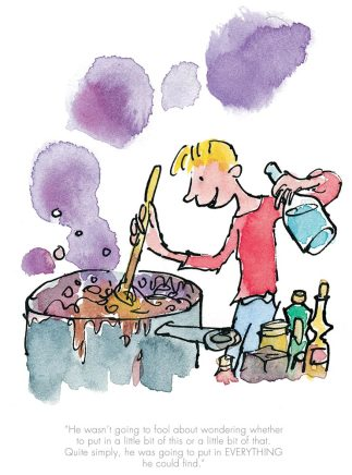 Quentin Blake/Roald Dahl, He put in everything he could find