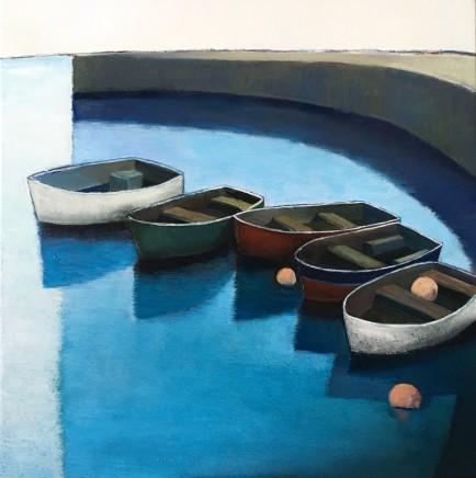 Nigel Sharman, Moored Boats in Harbour