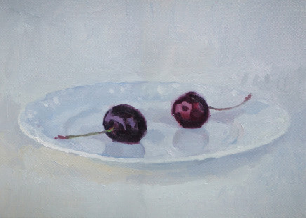 Andrew B Holmes, Cherries on a plate