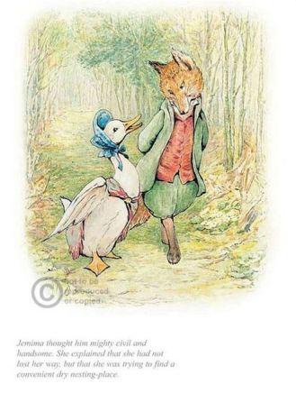 Beatrix Potter, Jemima with Mr Fox