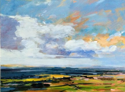 Colin Cook, Out across the plain - North Yorkshire