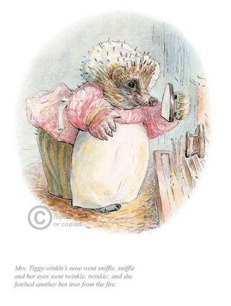 Beatrix Potter, Mrs Tiggywinkle went sniffle sniffle