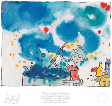 Quentin Blake/Roald Dahl, NEW - George started to stir his marvellous concoction