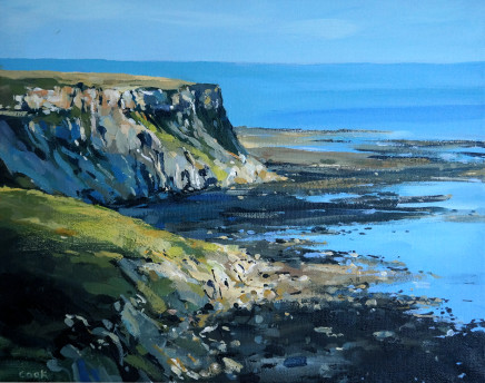Colin Cook, Early Morning Light on the Cliffs