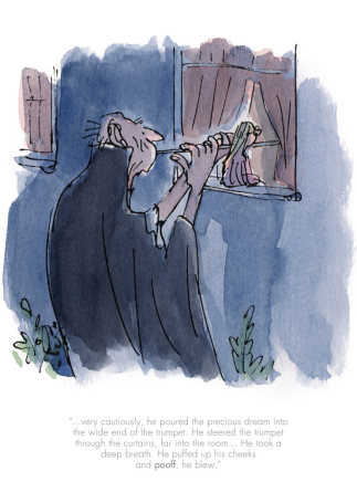 Quentin Blake/Roald Dahl, He poured the precious dream