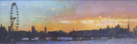 David Sawyer RBA, London Eye, late winter afternoon
