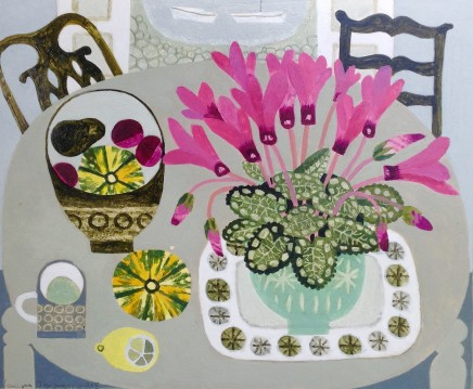 Vanessa Bowman, Pink Cyclamen and Squashes