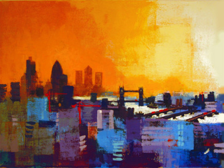 Colin Ruffell, London Panorama East, A2+