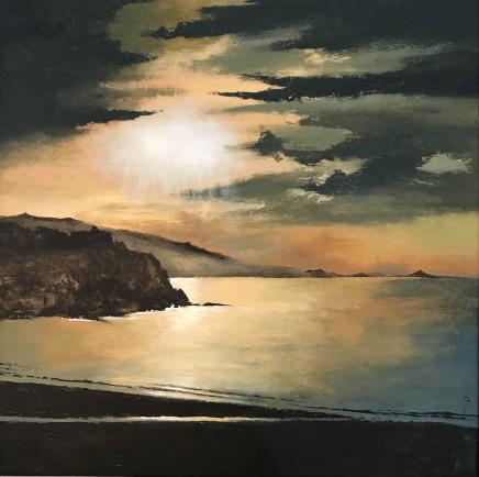 David Beer, Misty Sunset, St Ives