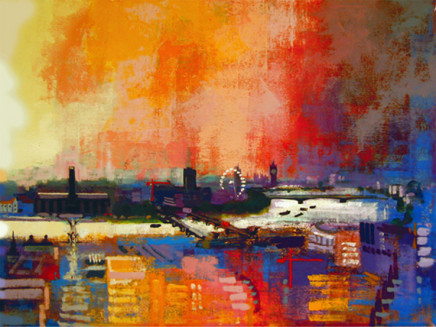 Colin Ruffell, London Panorama West, A3+