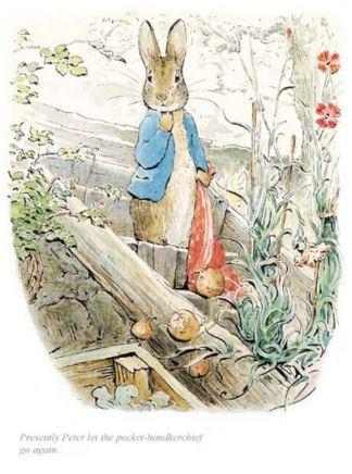 Beatrix Potter, Peter let the handkerchief go again