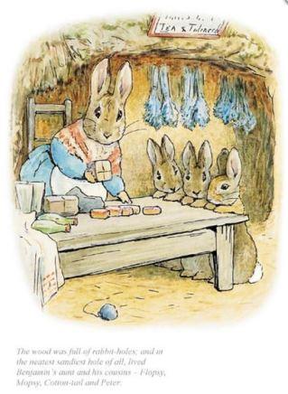 Beatrix Potter, The neatest, sandiest rabbit hole