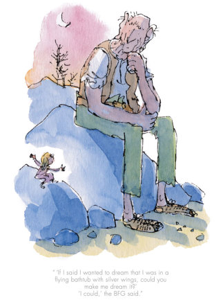 Quentin Blake/Roald Dahl, SOLD OUT Could you make me dream it