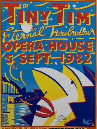 Martin Sharp, Tiny Tim Eternal Troubadour, Opera House , 5th Sept. 1982
