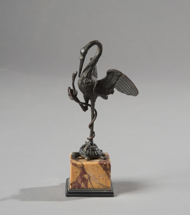 A bronze sculpture with a bird, a snake and a turtle, Rome, second half of the 18th Century