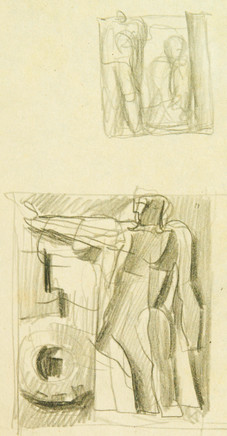 Mario Sironi, Sketch for a relief, 1936
