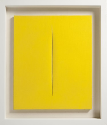 Lucio Fontana, Concetto Spaziale, Attesa. Il giallo e' come il sole, 1966