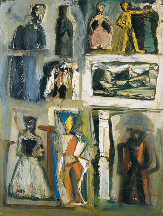 Mario Sironi, Composition, 1954