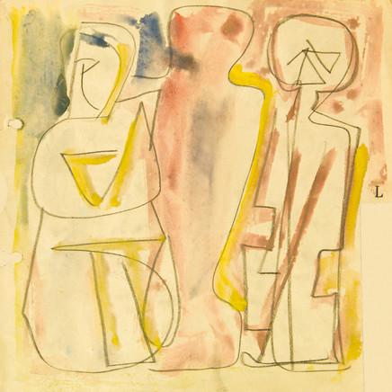 Mario Sironi, Figures, 1953 circa
