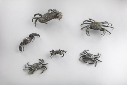 Set of bronze figures of crabs, Northern Italy, 19th Century