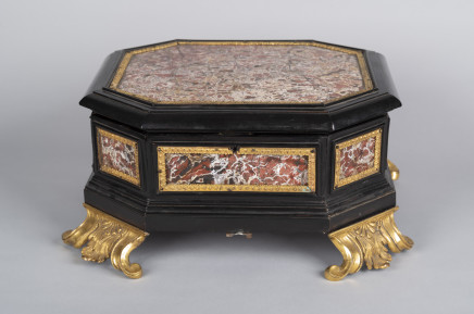 An Italian ormolu-mounted, jasper and ebony casket, ROME, Late 17th Century