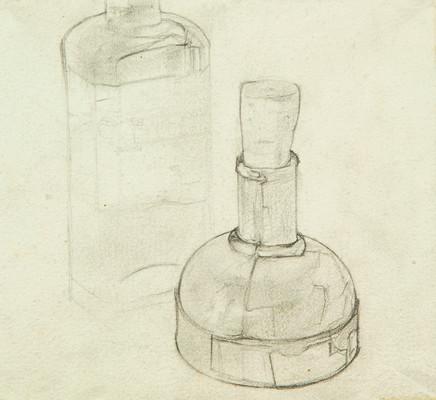 Mario Sironi, Ink bottles, 1920 circa